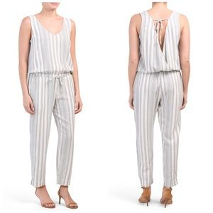 New Cloth & Stone Striped Tie Back Jumpsuit
